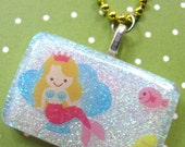 Little Mermaid And Friends Resin Necklace