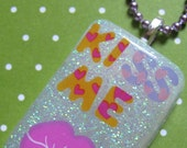 Valentine's Day Kiss Me Resin Necklace