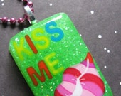 Kiss Me Lips Resin Necklace
