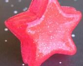 Hot Pink Star Resin Ring