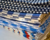 80 Cloth Napkins for Weddings, Events  made from Vintage Fabrics-