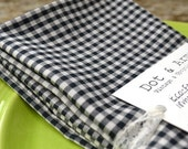 Black Check Cloth Napkins, Set of 4 by Dot and Army