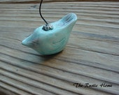 Love bird table place setting or photo holder wedding favor pottery clay your custom colors