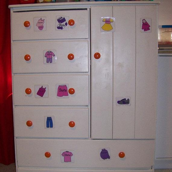 Clothing Dresser Labels for Little Girls