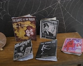 Set of Witch's Haunted Sheet Music for 1/12 scale Haunted House