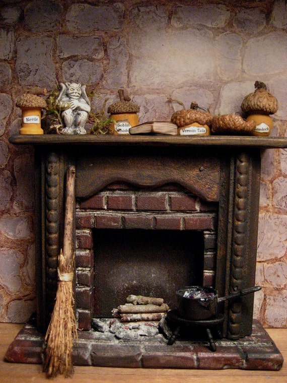 Witch S Creepy Fireplace For Haunted Dollhouse