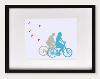 Personalized Wedding Gift - A Ride with You - Couples Silhouette, Engagement Gift, Anniversary gift