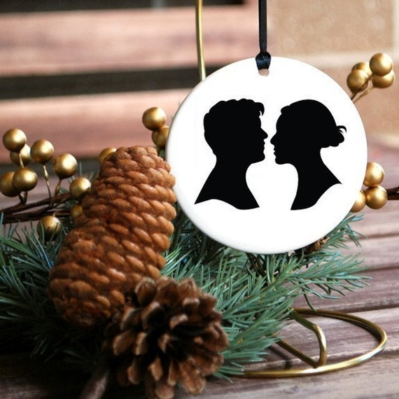CUSTOM - Couple Silhouette Ornament
