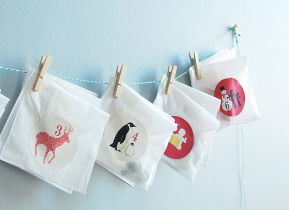 Advent Calendar Diy Kit : Items similar to diy kit silhouette advent calendar by le
