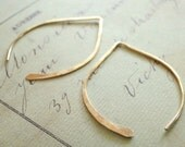 Wishbone Earrings - Small Gold Filled