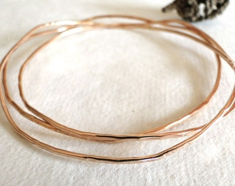 Rose Gold Bangles (Set of 3), Bangle Stack, Bangle Bracelet