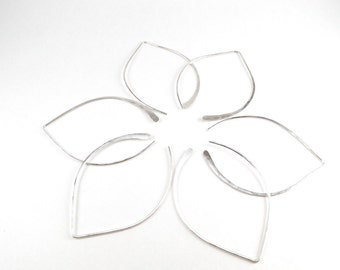 Wishbone Earrings - Large Sterling Silver