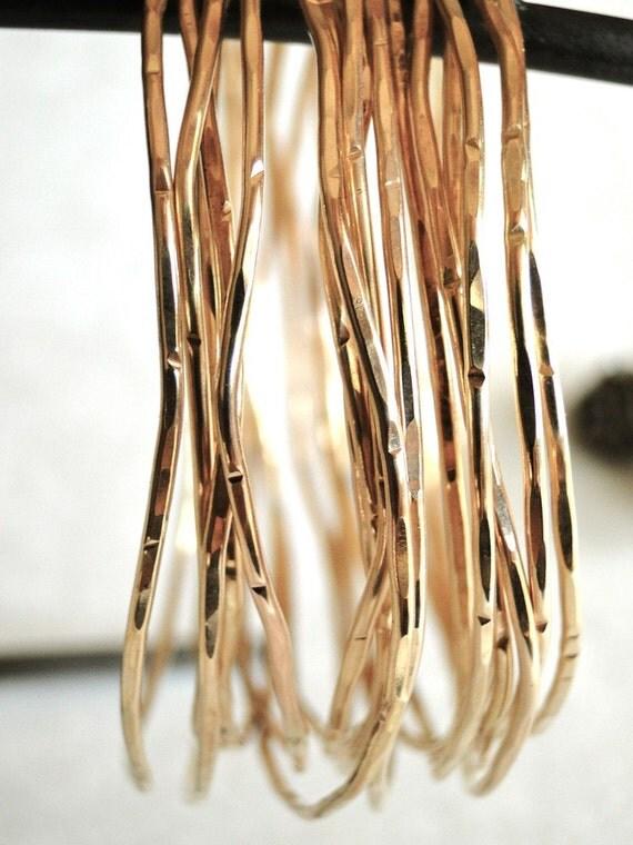 14K Gold Filled Bangles (Set of 3)