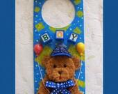 Baby Boy Door Hanger