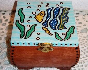 Underwater Wood Trinket Box