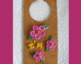 I'm Asleep Floral Door Hanger