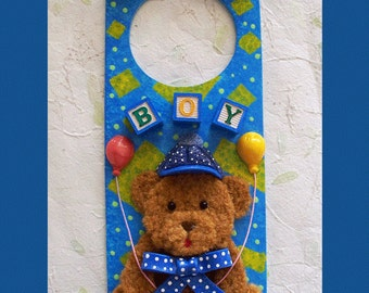 Baby Boy Door Hanger