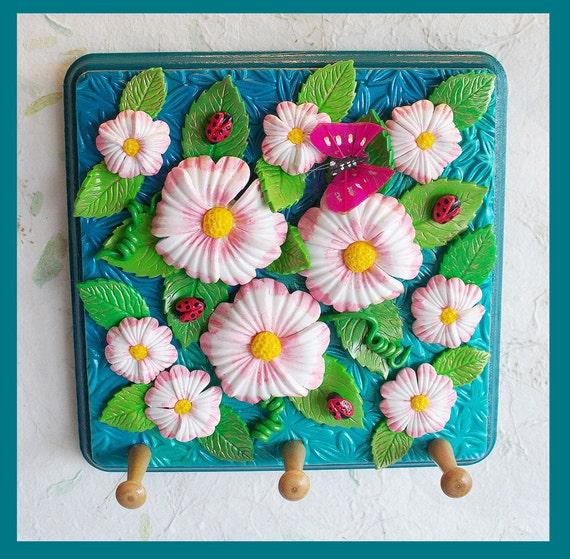 Floral Wall Key Holder