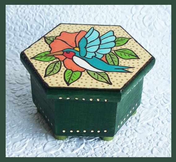 Humming Bird Trinket Box