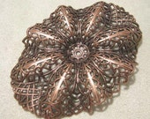 LARGE FILIGREE SETTING IN ANTIQUE COPPER FINISH