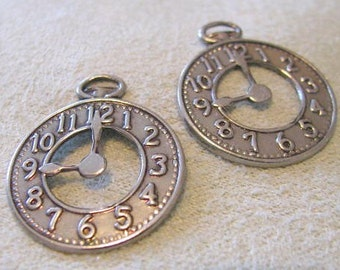 Dont Be Late   Make Time for FUN Charms Watch Antique Silver Finish