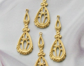Raw Brass Victorian Style  Findings
