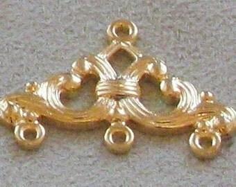 Gold Plated Earring Chandelier Dangles