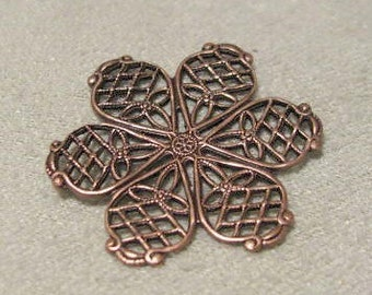 Antique Copper Finish Brass Medium Sized Detailed Filigree