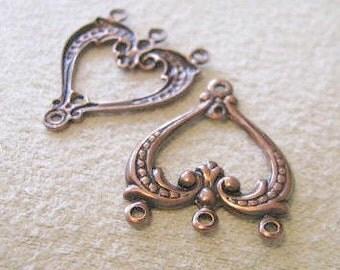 Fancy Earring Dangles in Antique Copper Finish Brass