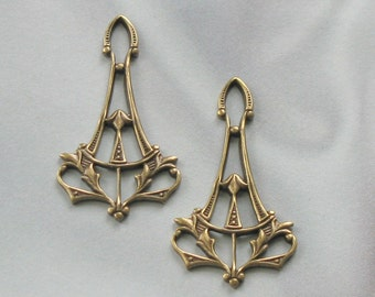 Vintage Antique Gold Finish Victorian Design Drops  6662 agp