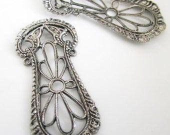 Antique Silver Finished Fancy Filigree Stamping Filigree 7167-D