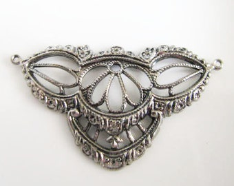 Antique Silver Finish Fancy Filigree Stamping Filigree