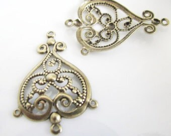 Antique Gold  Finished Version Drops 2 pair