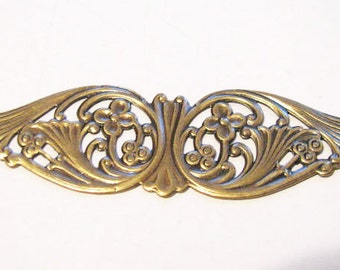 Antique Gold  FINISH Wings with Filigree Design