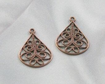 copper Finish Brass cut out drops