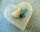 Something Old..Something New... Wooden Heart Keepsake Box