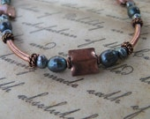 Freshwater Pearls and Copper Necklace