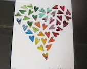 """Heart of Hearts - Framed Recycled Soda Pop Art - 8""""x10""""- One of a Kind Art -Collection of Hearts"""