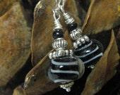 Zebra Delight - Sterling Silver Earrings