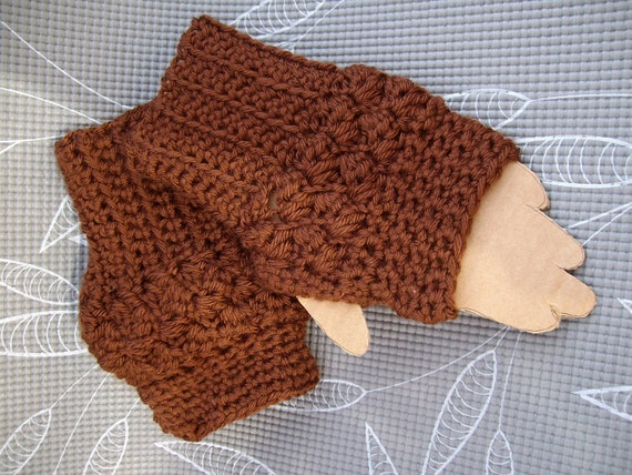 Men fingerless gloves.  Worsted acrylic yarn made especially for him. Ready to ship
