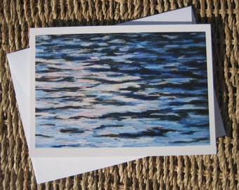 Water Pattern note cards, Set of 8 cards with envelopes