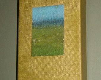 Miniature Landscape 4 - original mixed media painting