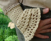 Crochet PATTERN - Double Elegance Wrist Warmers Crochet PATTERN in PDF Format