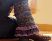 Crochet PATTERN - Lincoln Legwarmer Crochet PATTERN in PDF Format