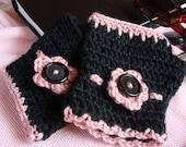 Crochet PATTERN - Victoria-Allie Wristwarmer Crochet Pattern in PDF Format