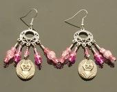 Pink Bastet Earrings