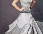 Long skirt, highly detailed light gray larger medium size or large