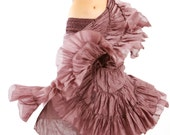 Dusty Purple long skirt, high end fluffy material, perfect for any outfit