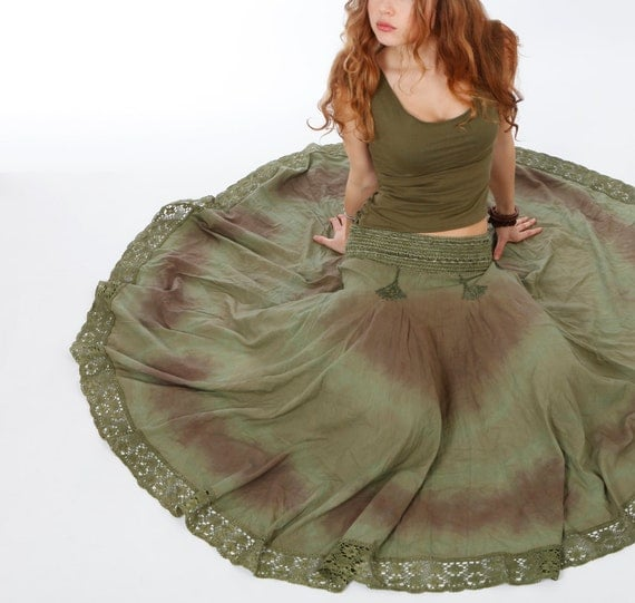 Reserved for Cecilia. Long Skirt very natural Earthy feel