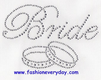 Rhinestone Iron On Transfer Hot fix Crystal bride/rings